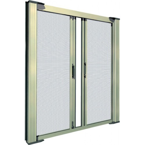 Tall double door retractable screen kit retractable door for Retractable bug screen door