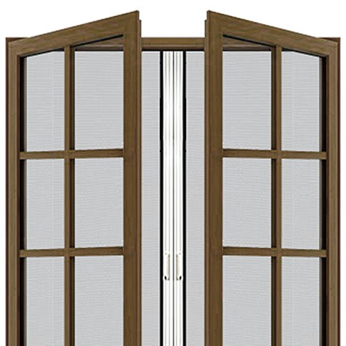 Custom double door retractable screen retractable door for Hidden screens for french doors