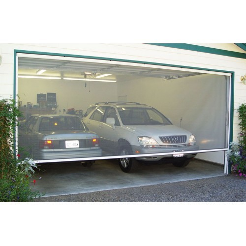 Motorized large opening screen up to 120 h motorized for Motorized garage door screens
