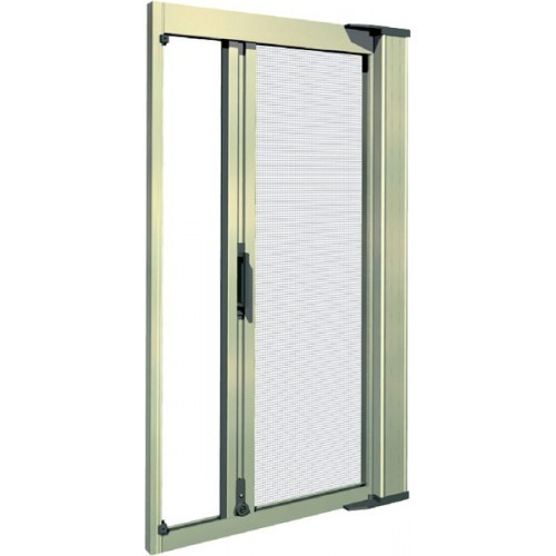 Tall single door retractable screen kit retractable door for Retractable patio doors