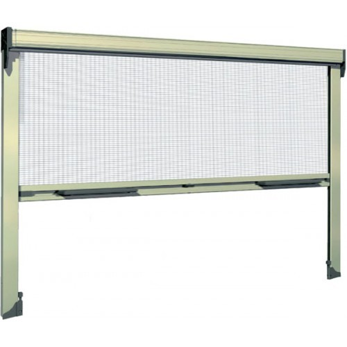 Phantom privacy screen on large garage door images frompo for Retractable double garage door screen
